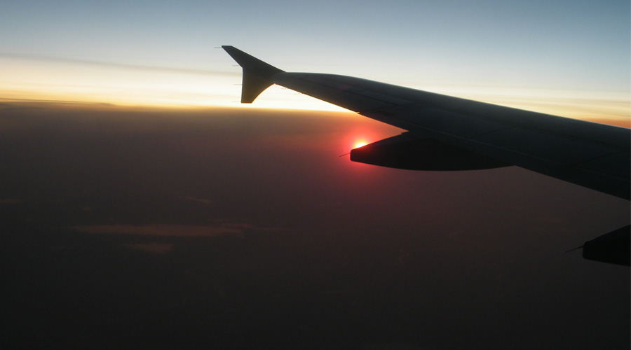 sunset from 30,000 feet